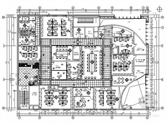 [沈阳]5A智能化超高层办公楼现代办公空间装修施工图
