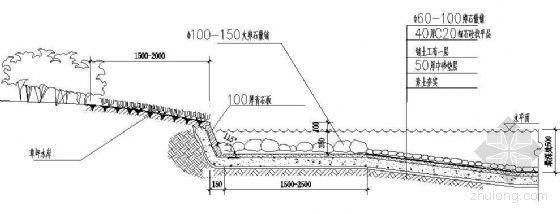 驳岸一标准剖面图