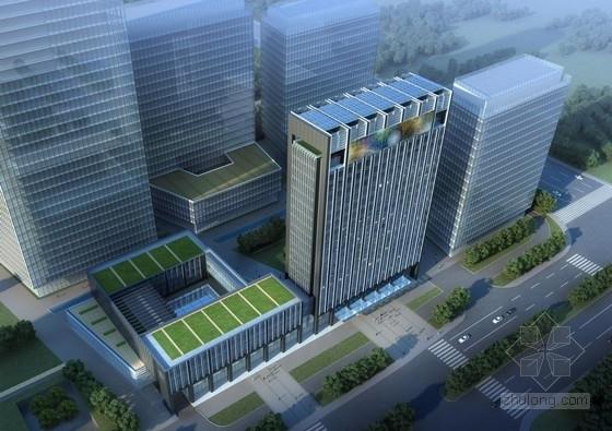[江苏]底部架空方正造型商务办公中心建筑设计方案文本
