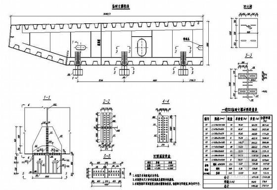 公路跨长江特大组合体系桥梁(变更)钢箱梁A梁段临时支撑构造节点详图设计