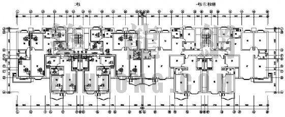 某七层住宅楼采暖分户计量图