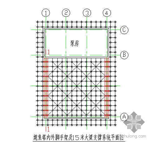 唐山某钢铁厂焦化工程熄焦塔大截面梁模板支撑施工方案(多层板 钢模板)