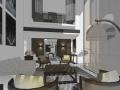 深圳和记黄埔御峰园300平别墅样板房室内设计方案