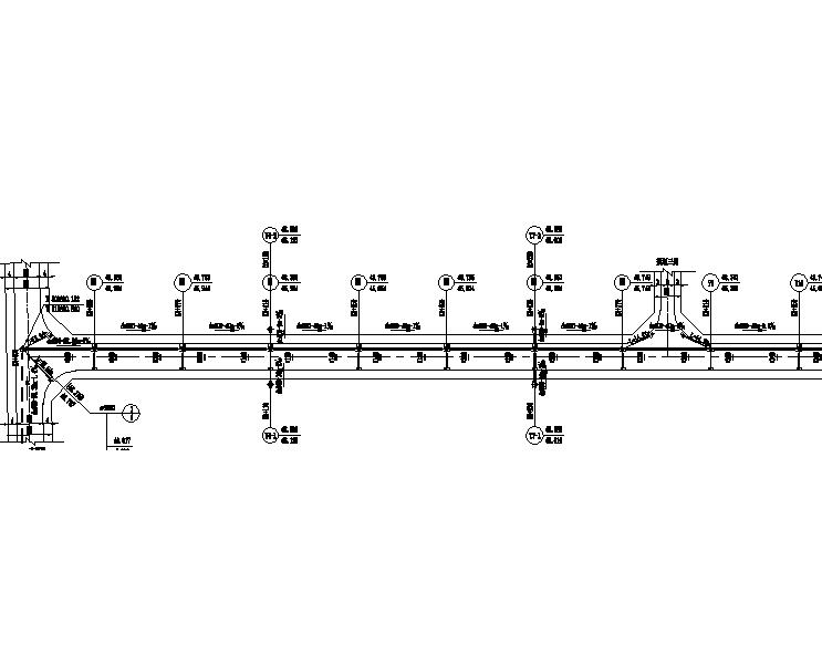 河南市政道路给排水设计施工图