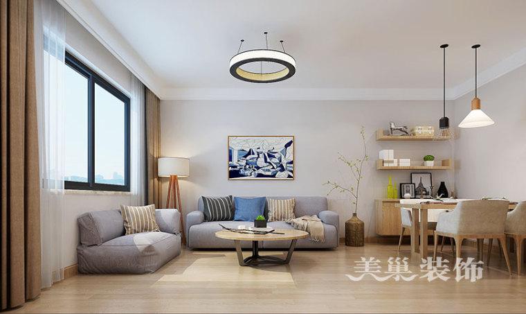 新鑫花园120平三室装修,年轻人素雅原生态生活