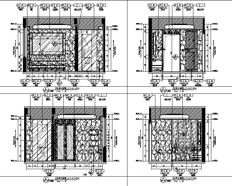 [广东]新中式现代风格别墅样板房设计施工图(附效果图)