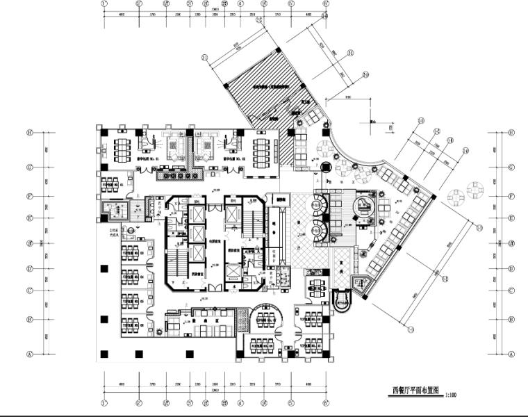 四川重庆某咖啡厅室内设计施工图(含效果图)