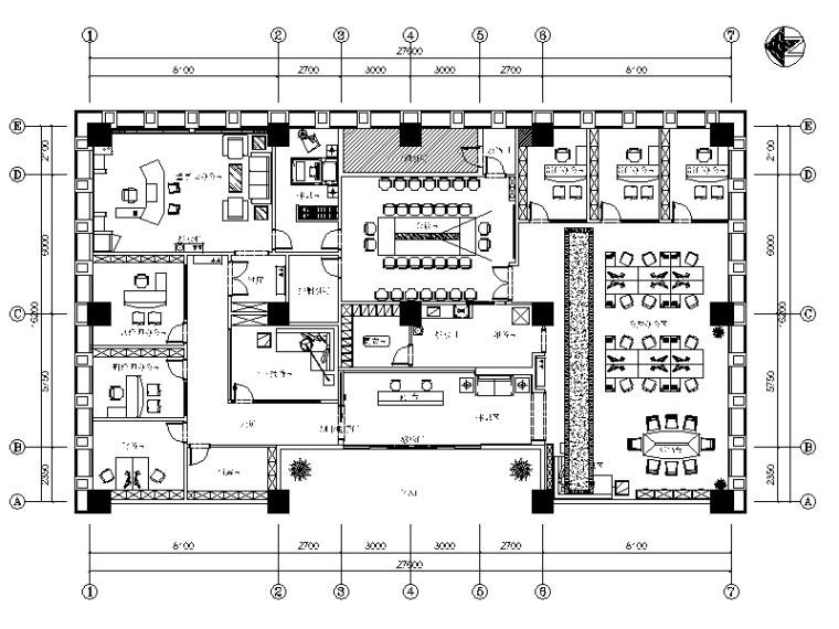 [四川]全套建筑设计办公楼CAD施工图(含效果图)