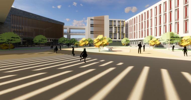 劳动路小学建筑模型设计(2018年资料)