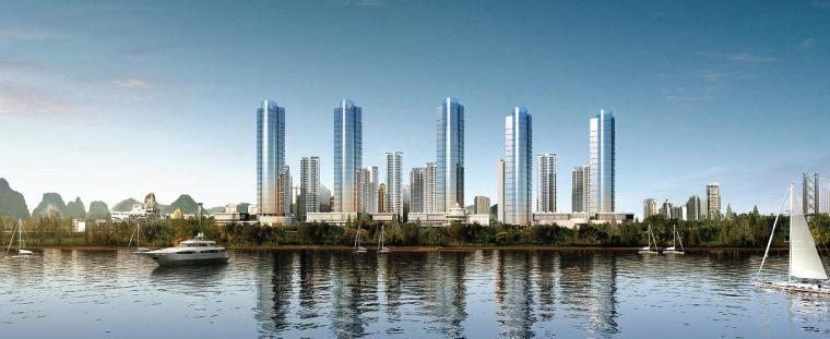 [广西]超高层玻璃幕墙立面商住综合体建筑设计方案图(含效果图)