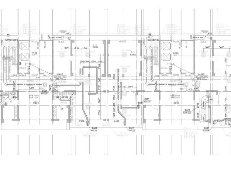 [贵州]高层商业住宅综合楼空调通风及防排烟系统设计施工图(机房)
