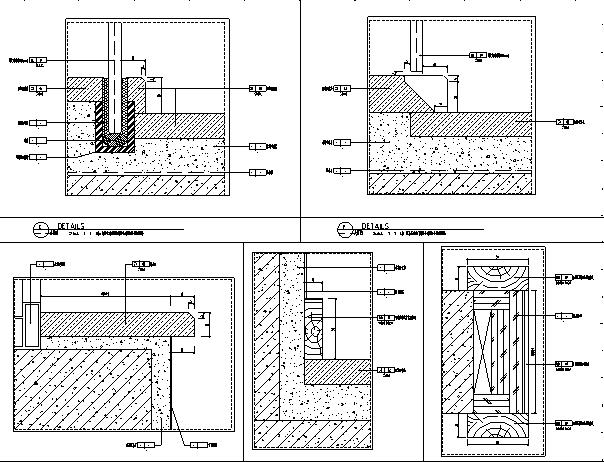 【广东】现代东方内涵风格别墅设计施工图(附效果图+材料表)_1