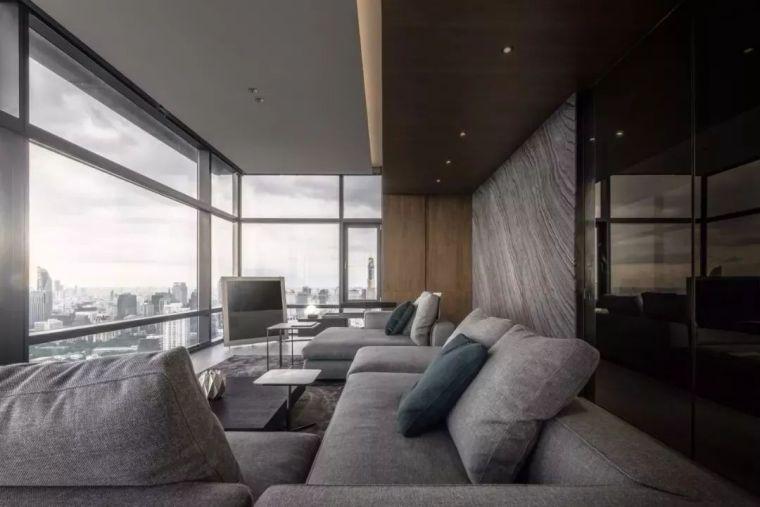 室内设计 130㎡的单身公寓,设计感十足_9