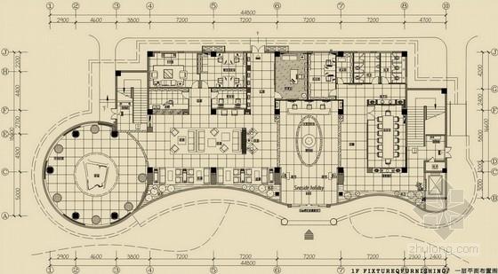 现代风格黄金海岸销售中心设计方案图