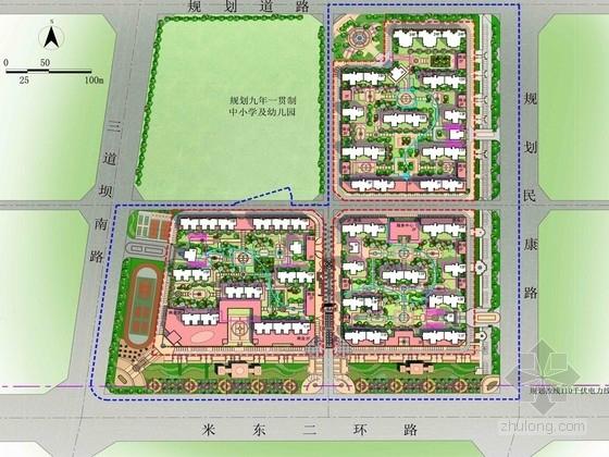 [新疆]高档现代住宅区景观规划设计方案