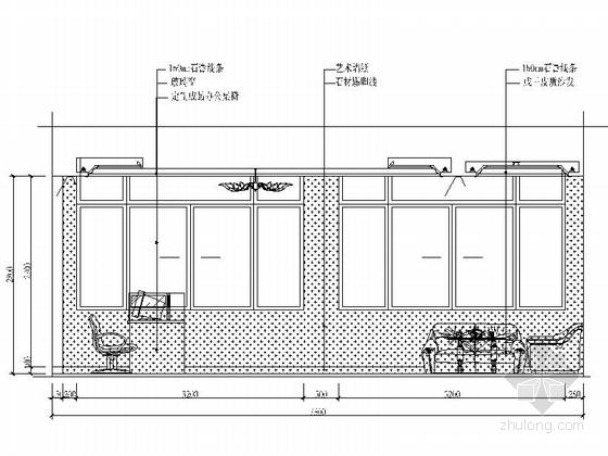 [安徽]时尚售楼处室内设计装饰CAD施工图(含效果)总经理办公室立面图