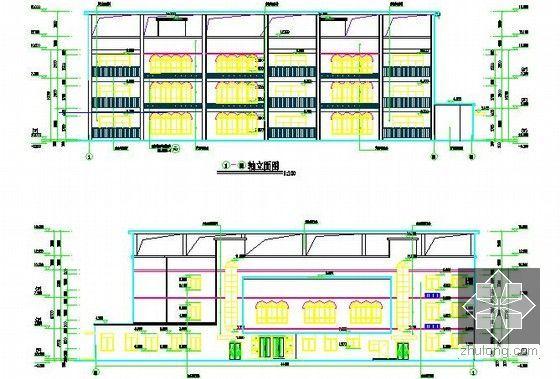 [全套]湖南保障房项目消防工程量清单控制价编制实例(含招标文件施工图纸300张标底)-幼儿园立面图