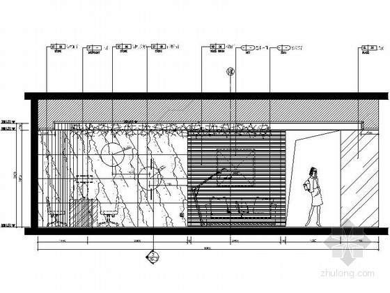 [福建]豪华游艇会所SPA装修设计施工图美容美发立面图