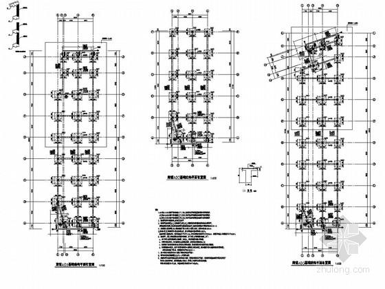 [青海]地上单层框架结构商铺结构施工图