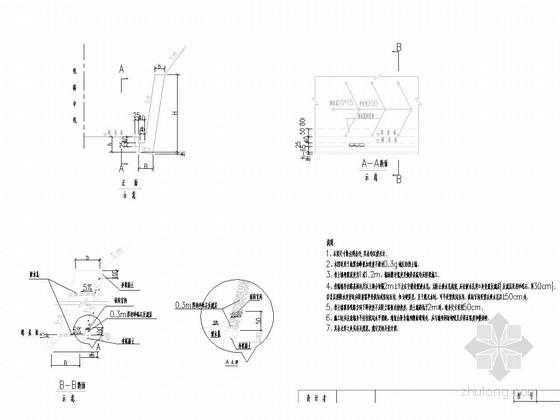[广西]不同地震动峰值加速度地区挡土墙设计图22张