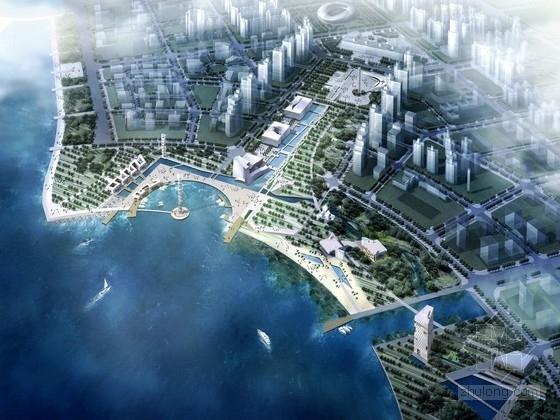 """[深圳]""""绿色海浪""""滨海广场与滨海公园景观设计方案"""