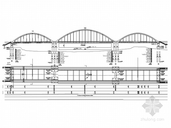 U台施工图资料下载-70+100+70m钢管混凝土系杆拱桥全套施工图(108页)