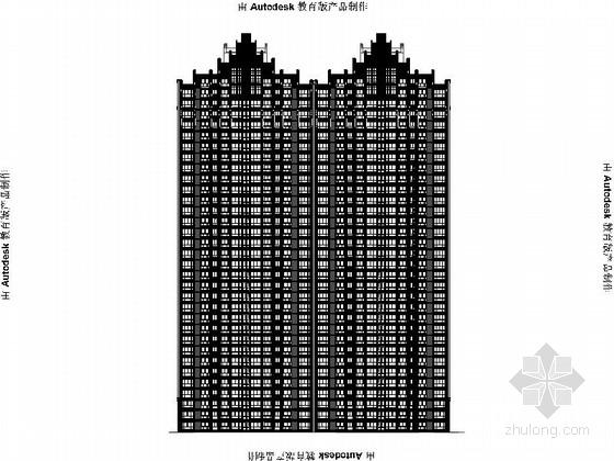 [安徽]Artdeco风格三十二住宅安置区建筑施工图(画图精细推荐参考)-[安徽]Artdeco风格三十二住宅安置区建筑施工图(画图精细 推荐参考)