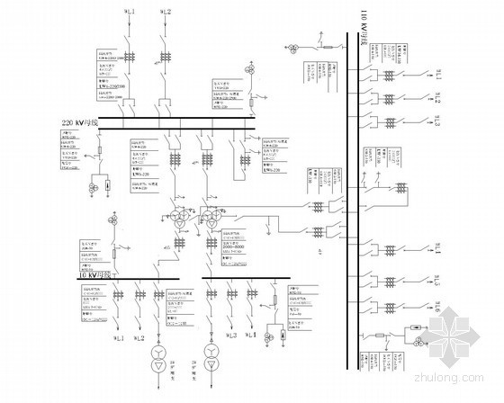 [新疆]某大学电气工程及其自动化专业毕业设计:变电所设计图