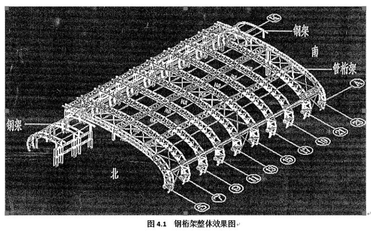 大型弯弧钢管桁架整体吊装施工工法(施工工法,新技术)