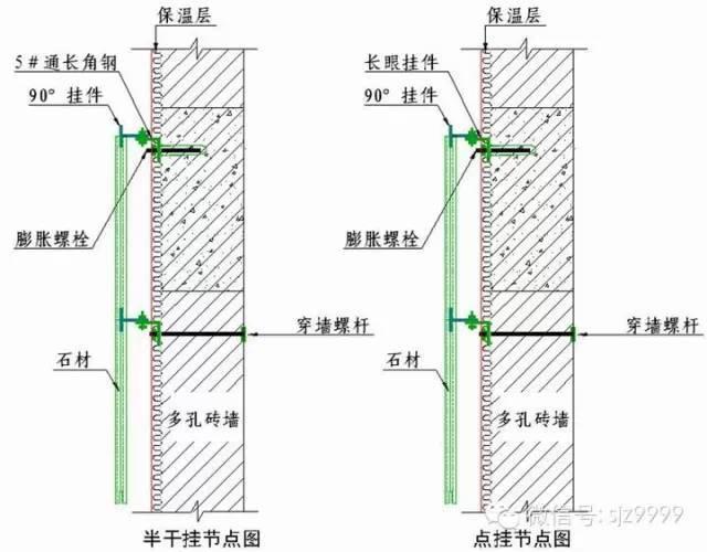 石材墙幕做法——详细节点图_6