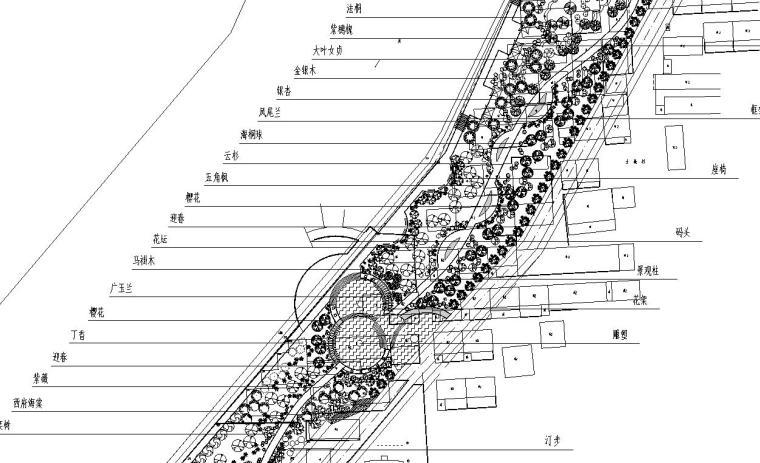 [山东]某滨水河岸园林设计10张