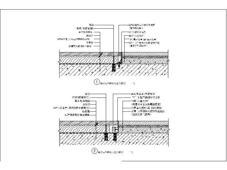 地面通用节点图库---石材与地毯,门槛石,木地板相接相接