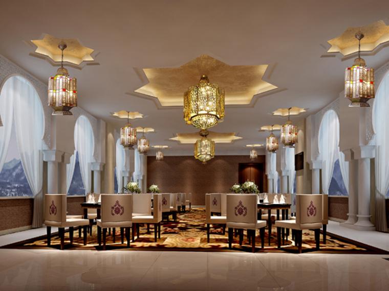 宴会餐厅3D模型下载