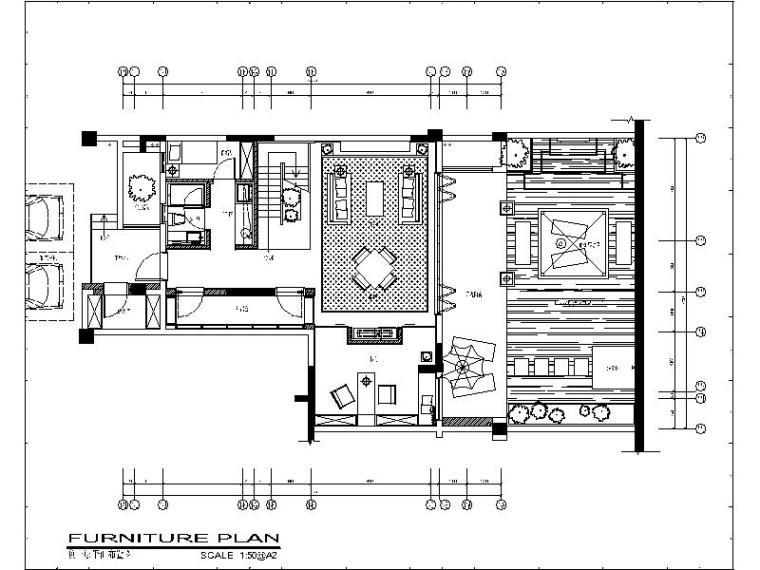 [重庆]万科复古奢华复式别墅设计施工图(含实景图)