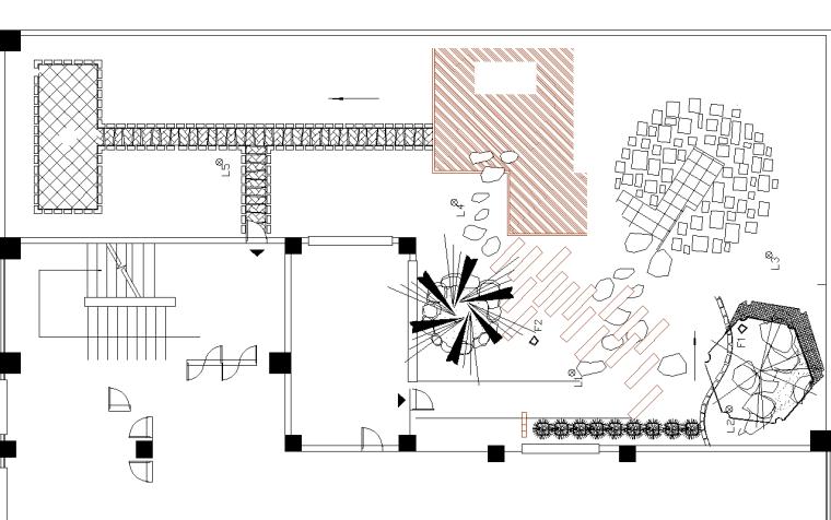 21套屋顶花园CAD施工图(3)