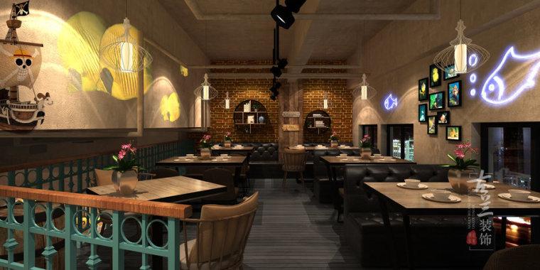 炉鱼部落-榆林专业特色餐厅设计公司_3
