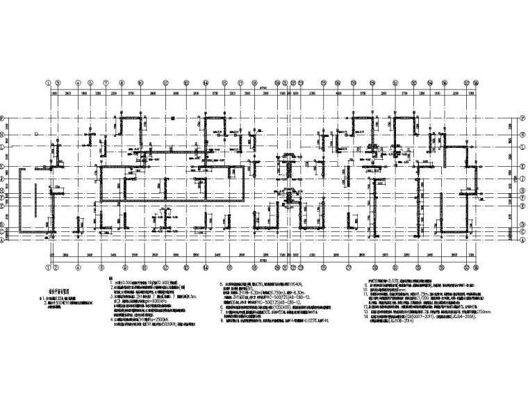 安徽24层剪力墙结构高层住宅结构施工图