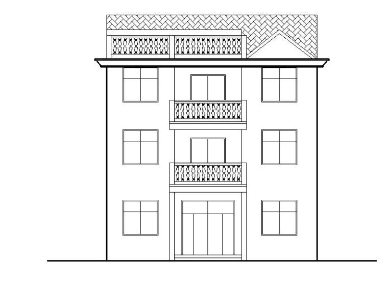 [宁夏]两层砖混结构新农村自建房建筑施工图