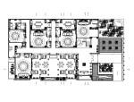 [郑州]经典传统中式餐厅设计施工图(含效果图)