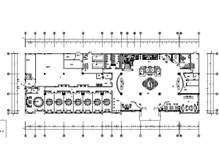 [安徽]欧式奢华花园酒店设计施工图(含效果图)