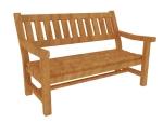 木制长椅3D模型下载