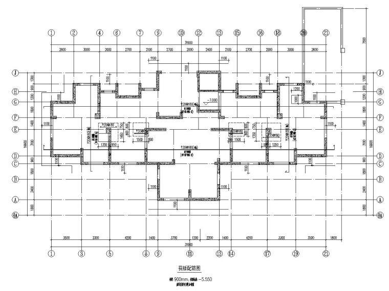 5900平17层安置区小高层住宅建筑结构施工图