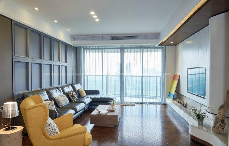 济南绿地隆悦公馆115现代简约风格装修案例