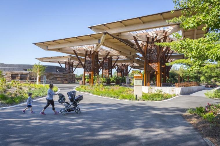 ITKE研究展亭景观资料下载-美国动物园周年纪念亭和长廊景观