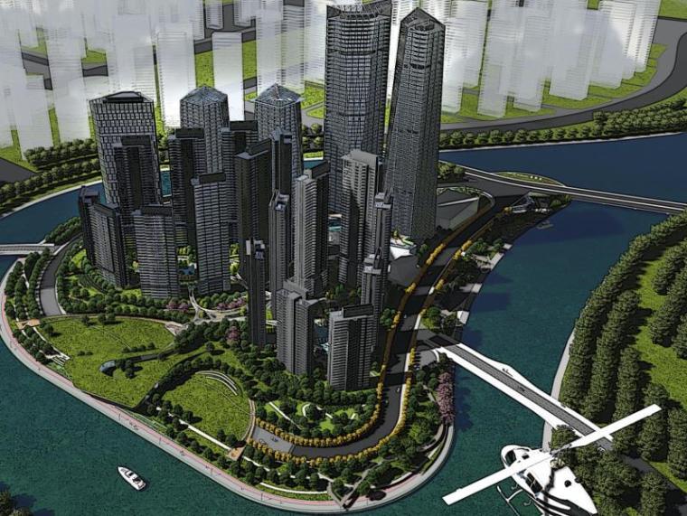 [四川]复地成都金融岛项目景观概念设计(商业便利,住宅宜居)