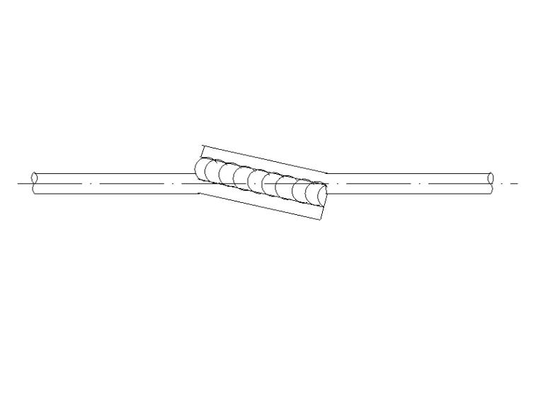 混凝土钢筋的焊接接头CAD大样图标注图集(26个)