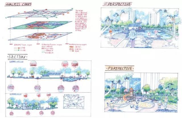 [考研干货]70张景观手绘快题学习_15