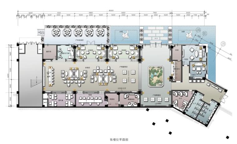 [重庆]新中式学府风售楼处设计施工图(含方案、效果图、物料)