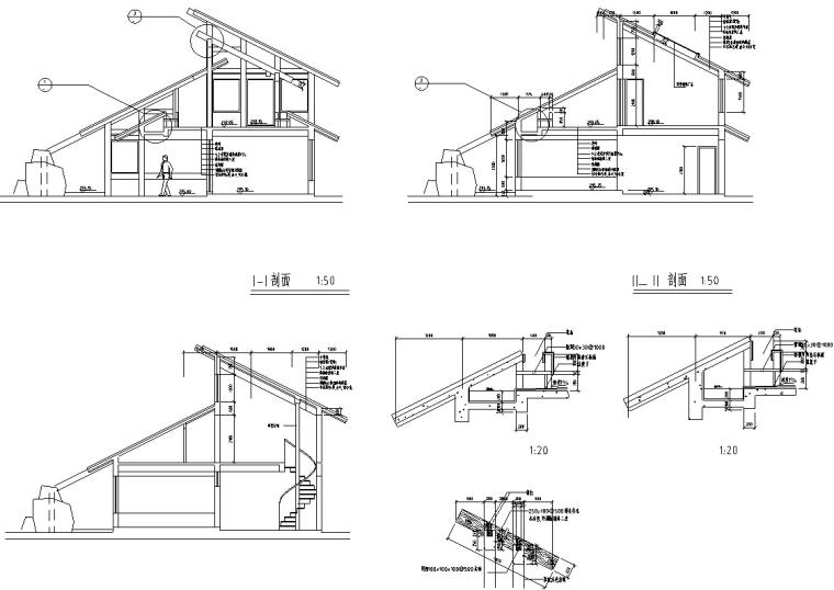 山顶缆车配套茶室建筑设计方案施工图CAD-3