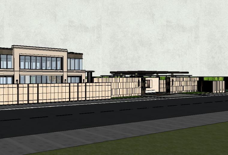 新中式风居住区景观SU模型设计